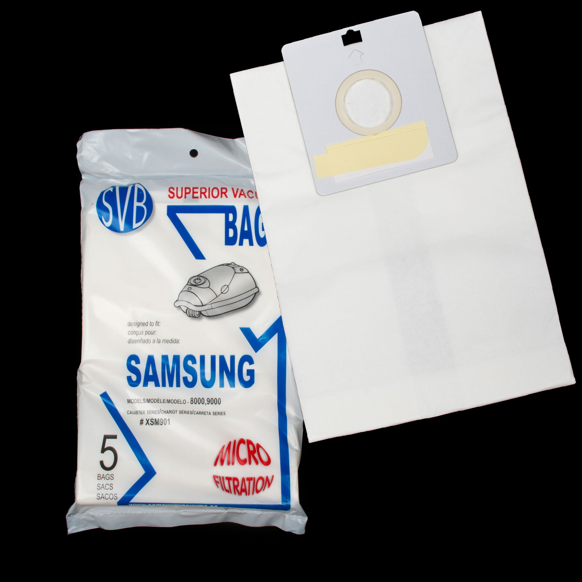 XSM901 SAMSUNG PAPER BAG 8000 7910 9000 CANISTER 5 PACK BISSELL MODEL USING BAG VP90 6900C 8913 DIGIMAX FITS SINGER CANISTER BPC-6, TURN BAG SIDEWAYS