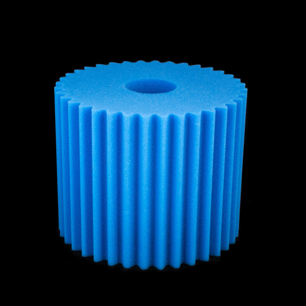 "F6500 FOAM FILTER FOR CENTRAL VACUUMS BLUE DESIGNED TO FIT AERUS LUX ELECTROLUX 8 1/2"" X 7""HIGH"