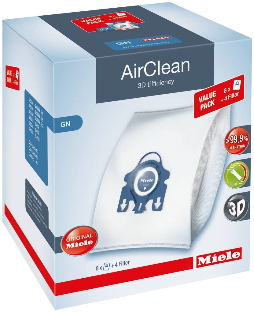 Miele AirClean Vacuum Filter & Bags (3D G/N Value Pack)