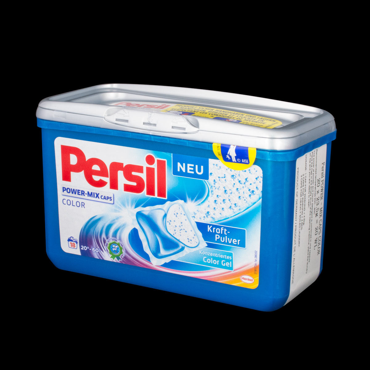 SJ935 Persil Power Mix Color 18WL Capsules Henkel Laundry Detergent 18 Wash Load Size *Product of Germany