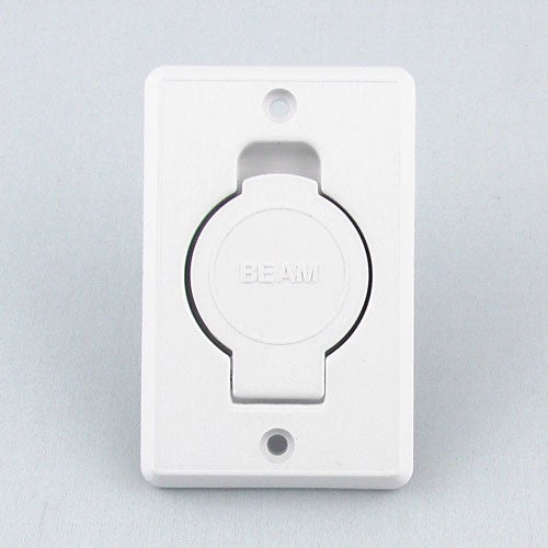 015246 -Beam Central Vacuum Inlet White