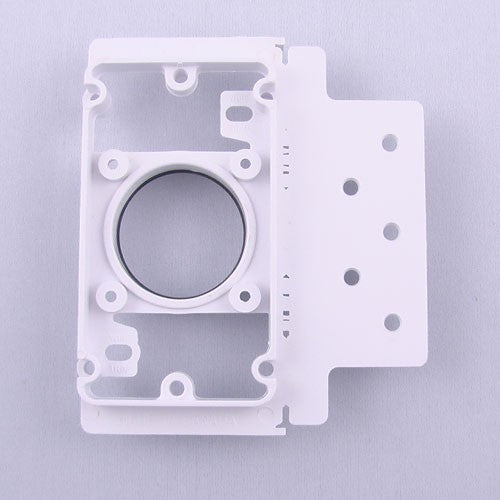 030041-Central Vacuum Inlet Mounting Plate PVC