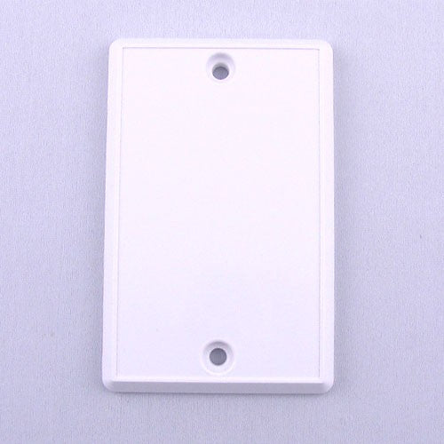030011-Central Vacuum Rough In Cover Plate White