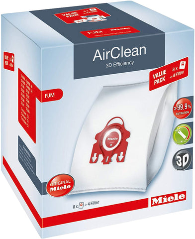 Miele AirClean Vacuum Filter & Bags (3D F/J/M Value Pack)