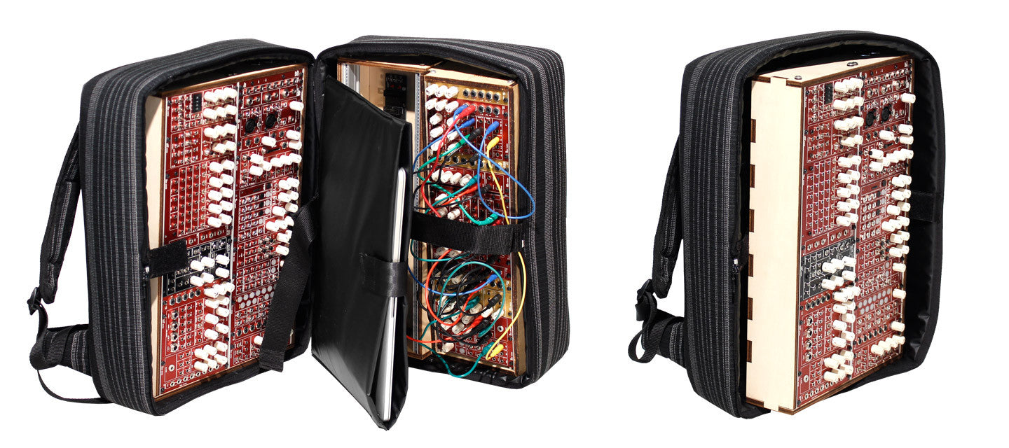 SO-NO-RO-A was specially designed for ADDAC System. This backpack provides you all the functionality and safety you need to carry most of ADDAC System's wood frames, external power supply, cables, laptop, tablet or anything else your performance might need.