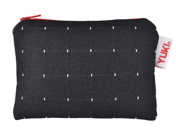 BA1 zipper pouch made of surplus car upholstery fabric - YUKI bags. Sometimes we need an extra pocket to carry and protect small and personal items. This simple and unique multifunctional zipper pouch is lightweight and very durable.