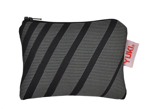 BA zipper pouch made of surplus car upholstery fabric - YUKI bags
