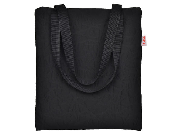 SKE tote bag made of surplus car upholstery fabric - YUKI bags Practical and simple, this tote bag is designed with your daily routine in mind. The spacious interior includes two zip pockets to secure your belongings.