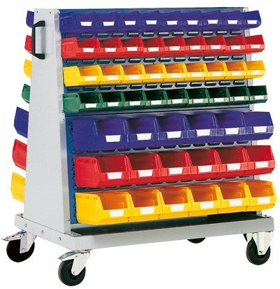 Bott Perfo 1200mm High Louvre Panel Trolley - 4 Louvre Panel - 108 Piece Bin Kit - 13031181.11