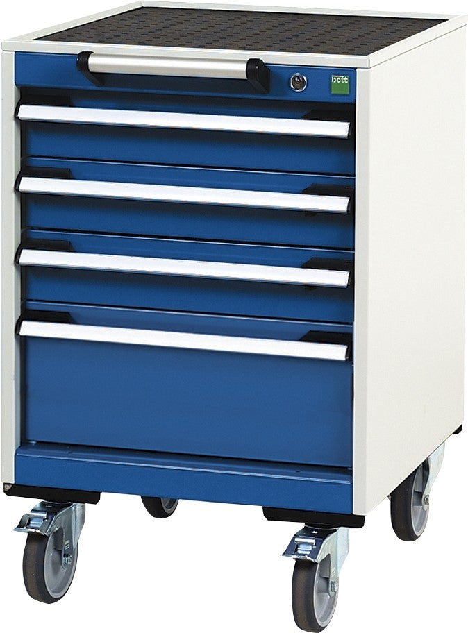 Bott Cubio 525mm Wide x 525mm Deep Mobile Cabinets with Four Drawers - 780mm High - 40402109.11V