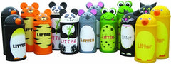Animal Themed Litter Bins - BEAR-L - TIG-S