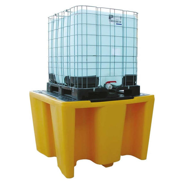 Spill-Safe Single IBC Spill Pallet With Removeable Grid - BBC1 - BBC1/RC