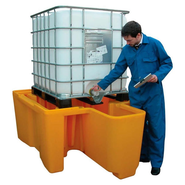Spill-Safe Single Integral Dispenser IBC Spill Pallet - BBC1D - BBC1D/RC