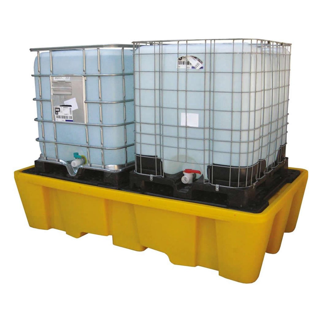 Spill-Safe Twin IBC Spill Pallet With Removeable Grid - BBC2 - BBC2T