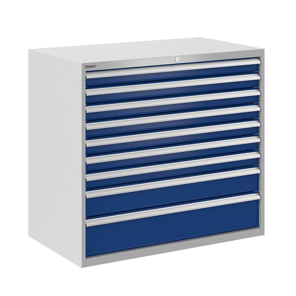 Bisley ToolStor Industrial 9 Drawer Static Cabinet - BIS400287W