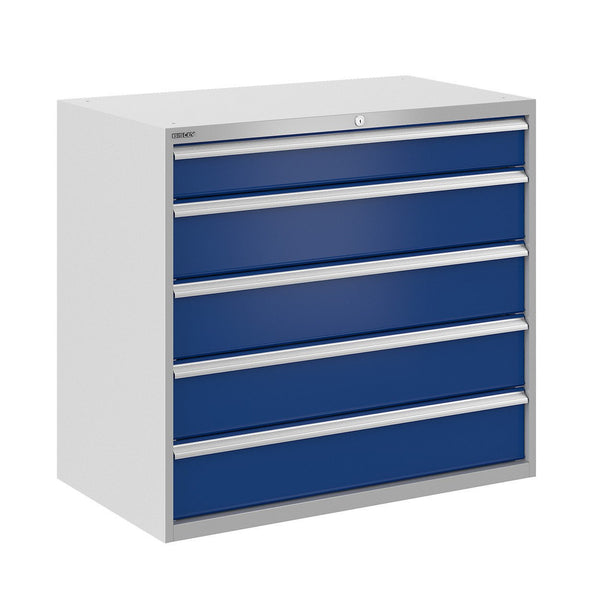 Bisley ToolStor Industrial 5 Drawer Static Cabinet - BIS400299W
