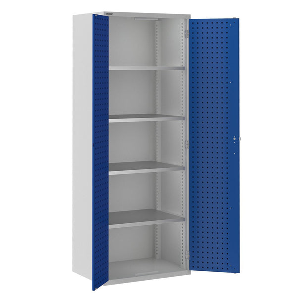 Bisley ToolStor Industrial 4 Shelf Storage Cupboard - BIS404245W