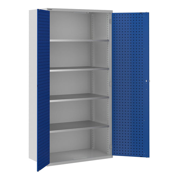 Bisley ToolStor Industrial 4 Shelf Storage Cupboard - BIS404247W