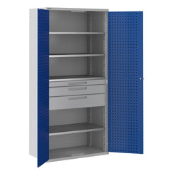 Bisley ToolStor Industrial 4 Shelf & 3 Drawer Kitted Cupboard - BIS406229W