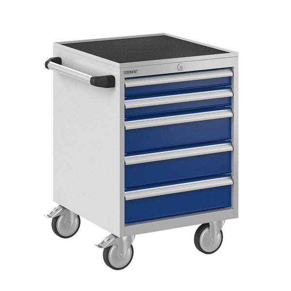 Bisley ToolStor Industrial 5 Drawer Mobile Cabinet - BIS600205W