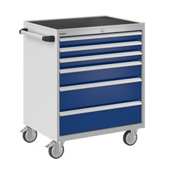 Bisley ToolStor Industrial 6 Drawer Mobile Cabinet - BIS600233W