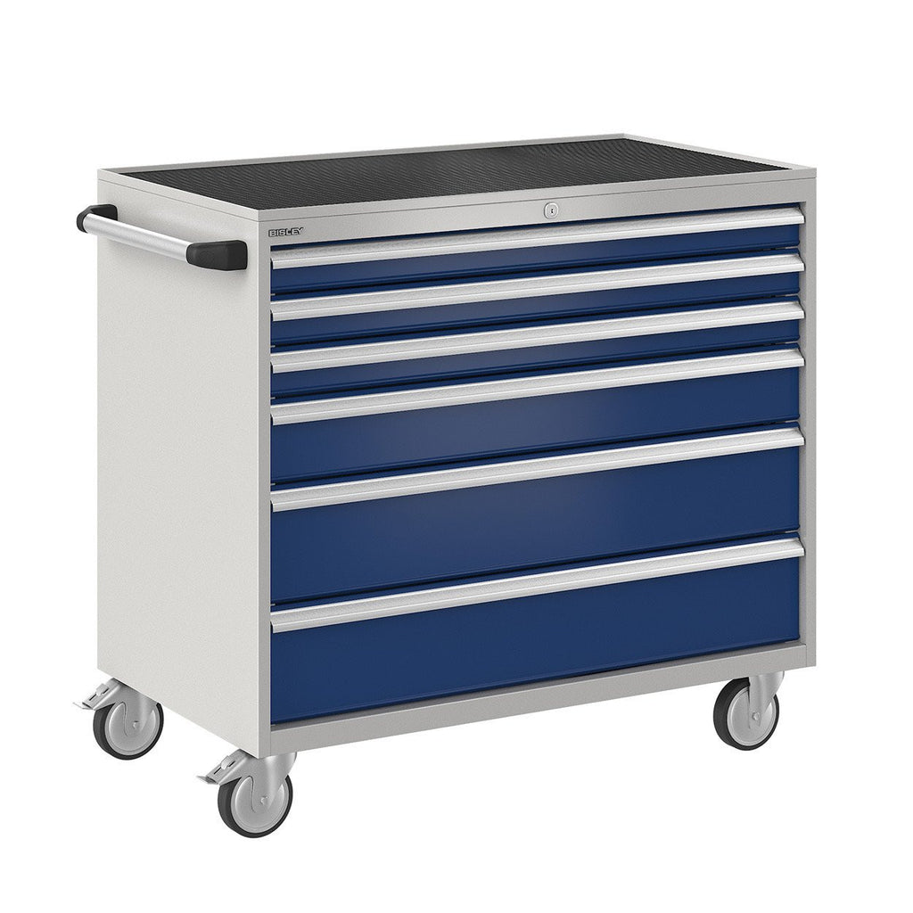 Bisley ToolStor Industrial 6 Drawer Mobile Cabinet - BIS600245W