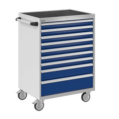Bisley ToolStor Industrial 9 Drawer Mobile Cabinet - BIS600271W