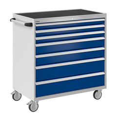 Bisley ToolStor Industrial 7 Drawer Mobile Cabinet - BIS600293W