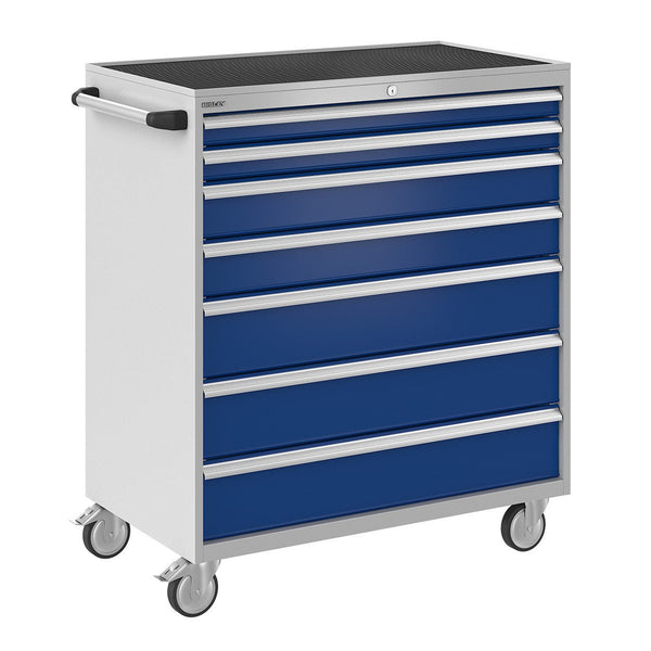 Bisley ToolStor Industrial 7 Drawer Mobile Cabinet - BIS600345W