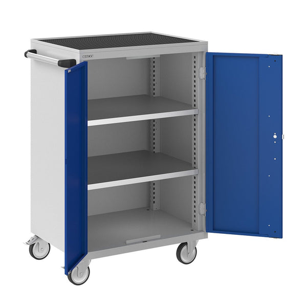 Bisley ToolStor Industrial 2 Shelf Mobile Cupboard - BIS604241W