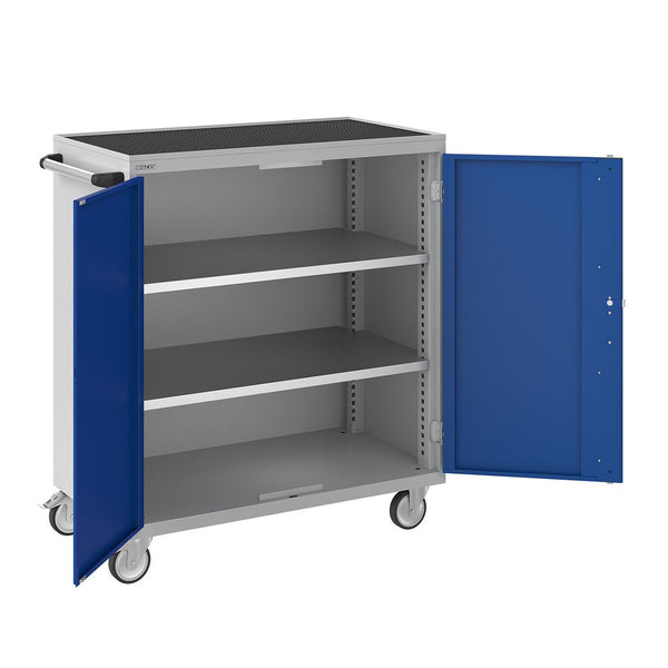 Bisley ToolStor Industrial 2 Shelf Mobile Cupboard - BIS604243W