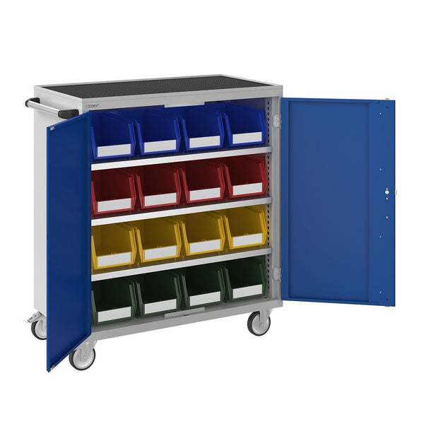 Bisley ToolStor Industrial 16 x No.4 Mobile Bin Cupboard - BIS604267W