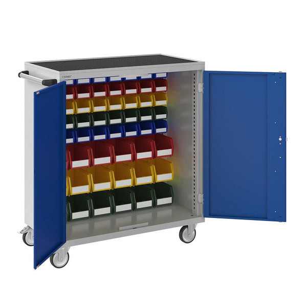 Bisley ToolStor Industrial 58 Mixed Louvre Mobile Cupboard - BIS604301W
