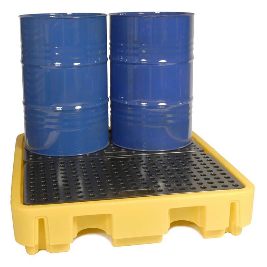 Spill-Safe Four 205 Litre Drum Bunded Spill Pallets - BPFE4 - BPFE4/RC