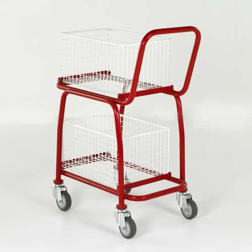 Work Gear 2 Tier Basket Trolley - BT107