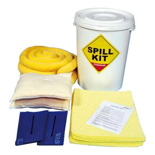 Spill-Safe 65 Litre Chemical Round Yellow Drum Spill Kits - CSK6 - CRF6