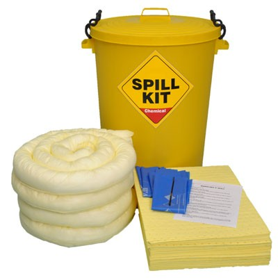 Spill-Safe 90 Litre Chemical Round Yellow Drum Spill Kits - CSK90RY - CRF90RY
