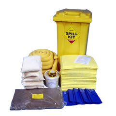 Spill-Safe 250 Litre Chemical Yellow Wheelie Bin Spill Kits - CSKM - CRFM