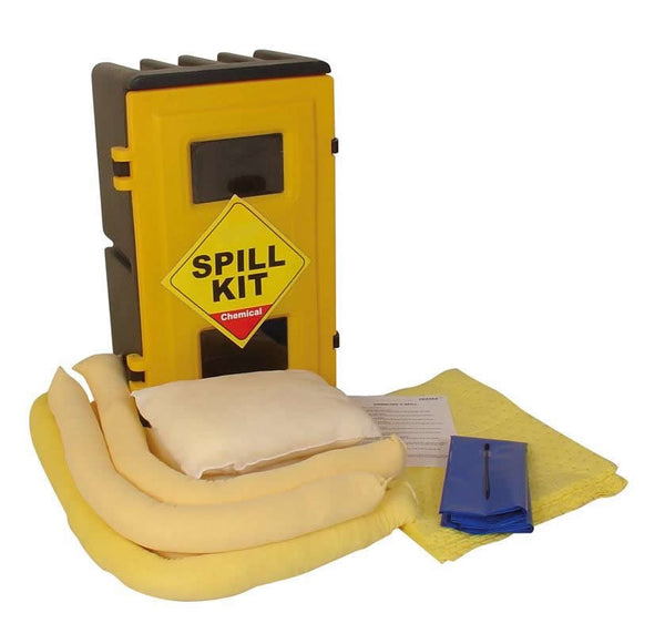 Spill-Safe 50 Litre Chemical Wall Cabinet Spill Kits - CSKW - CRFW