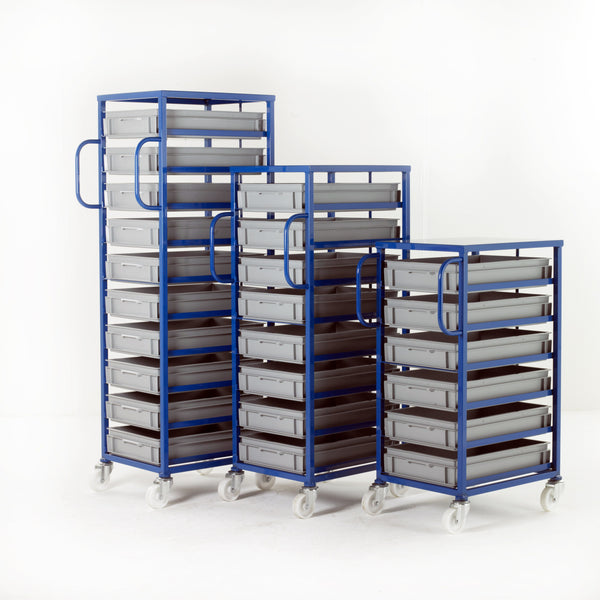 Work Gear Euro 120mm High Blue Mobile Tray Racks - CT206 - CT210