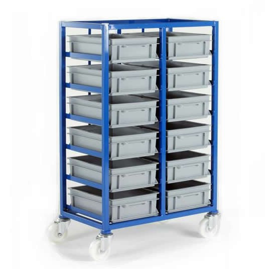 Work Gear Small Parts Storage Tray Rack 12 Trays - CT216