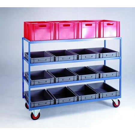 Work Gear Large 4 Tier Container Shelf Trolley - CT47