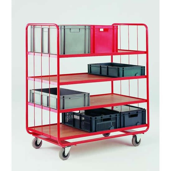 Work Gear Medium 4 Tier Container Shelf Trolley - CT48