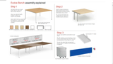 Dynamic Two Pod Desk Sets - B2P12 - B2P16