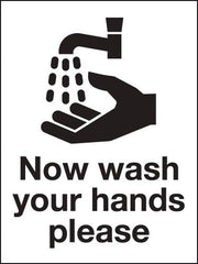 200x150mm Now wash your hands please - Rigid - HG14/R