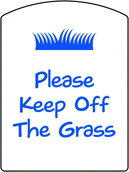 400x300mm Please Keep Off the Grass School Sign - EDU07R