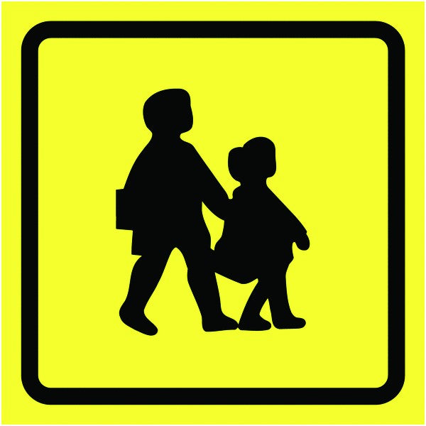 300x300mm School Bus Sign - GN00128Q - GN00135Q