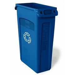 Rubbermaid 87 Litre Slim Jim Vented Bin - FG354007BLUE - FG354007GRN