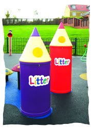 Micro Pencil Litter Bins with Litter Letters - PMICL4 - PMICL8