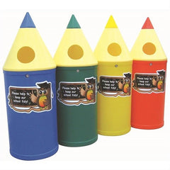 Micro Pencil Litter Bins with Owl Graphics - PMICO4 - PMICO8